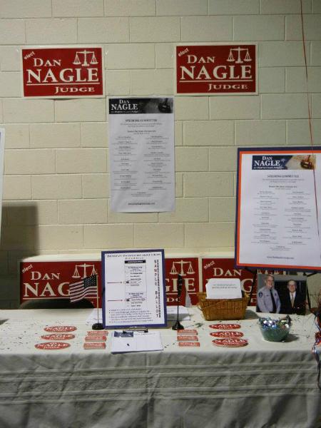 Dan Nagle\'s Table at  Convention