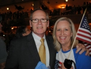 Val and Dan Nagle at the Flight of Honor Reception