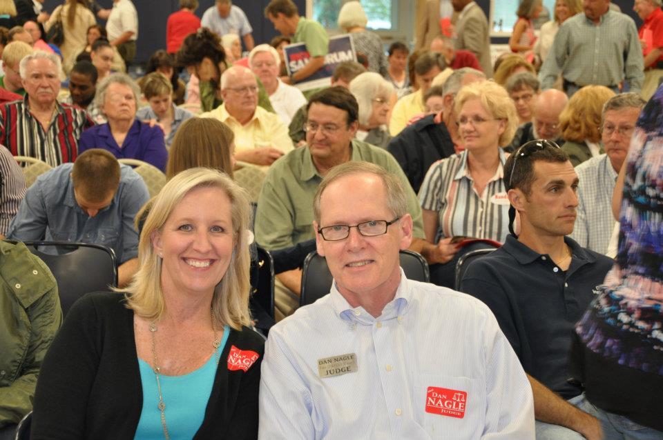 Val and Dan Nagle at congressional candidate debate.