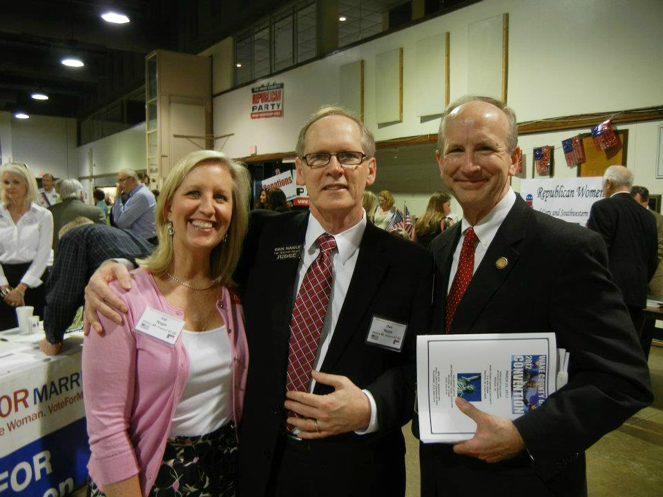 Val and Dan Nagle with Justice Paul Newby.